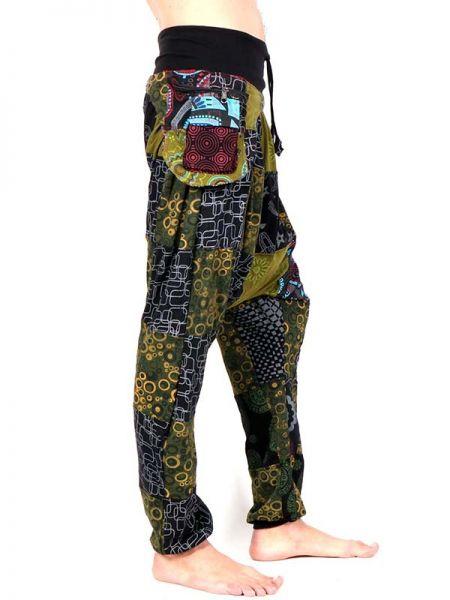 Pantalón hippie Patchwork con Riñonera - Detalle Comprar al mayor o detalle