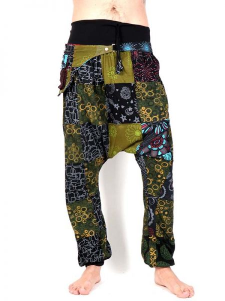 Pantalón hippie Patchwork con Riñonera [PAHC34] para Comprar al mayor o detalle