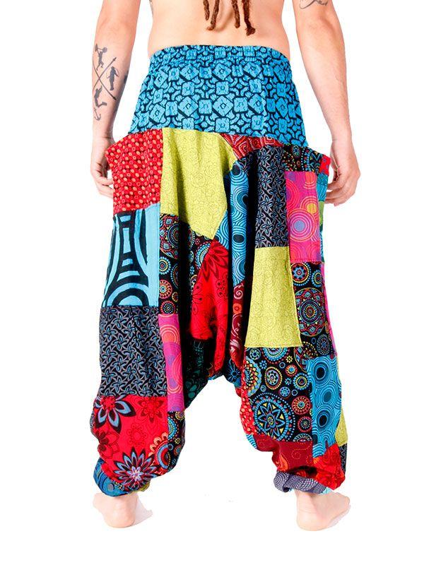 Pantalón hippie Patchwork Unisex - Detalle Comprar al mayor o detalle