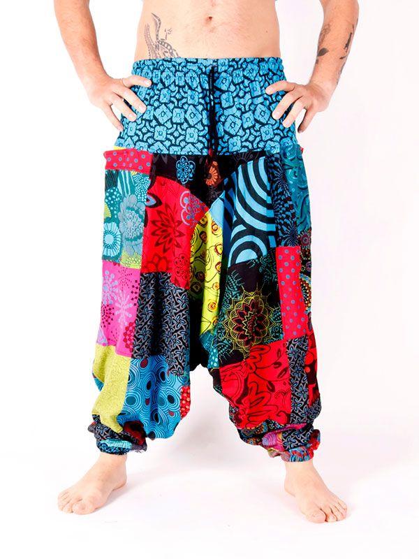 Pantalones Hippies - Pantalón hippie Patchwork Unisex [PAHC35] para comprar al por mayor o detalle  en la categoría de Ropa Hippie Alternativa para Hombre.