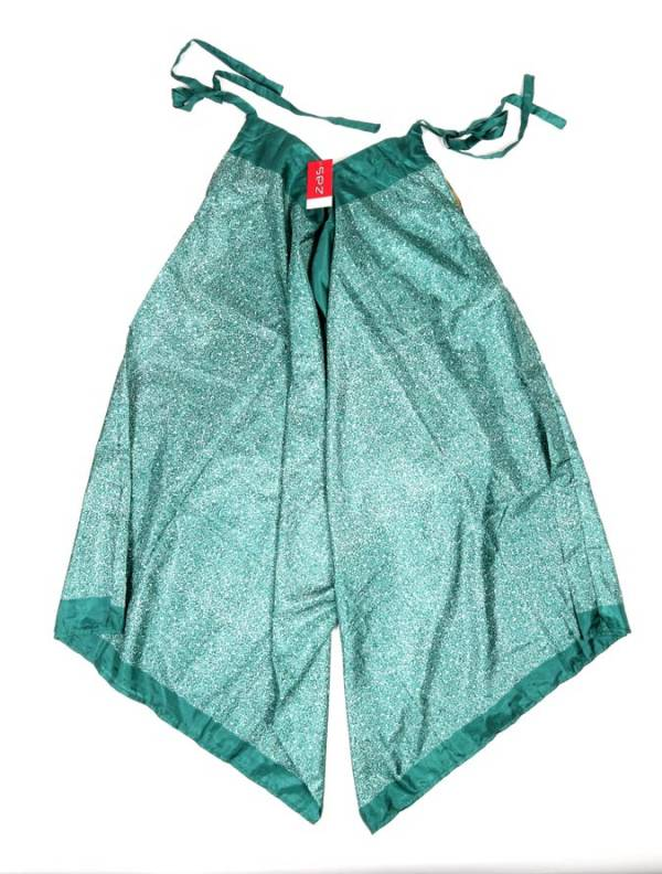 Vestido - Pantalón sedoso étnico - Verde Comprar al mayor o detalle