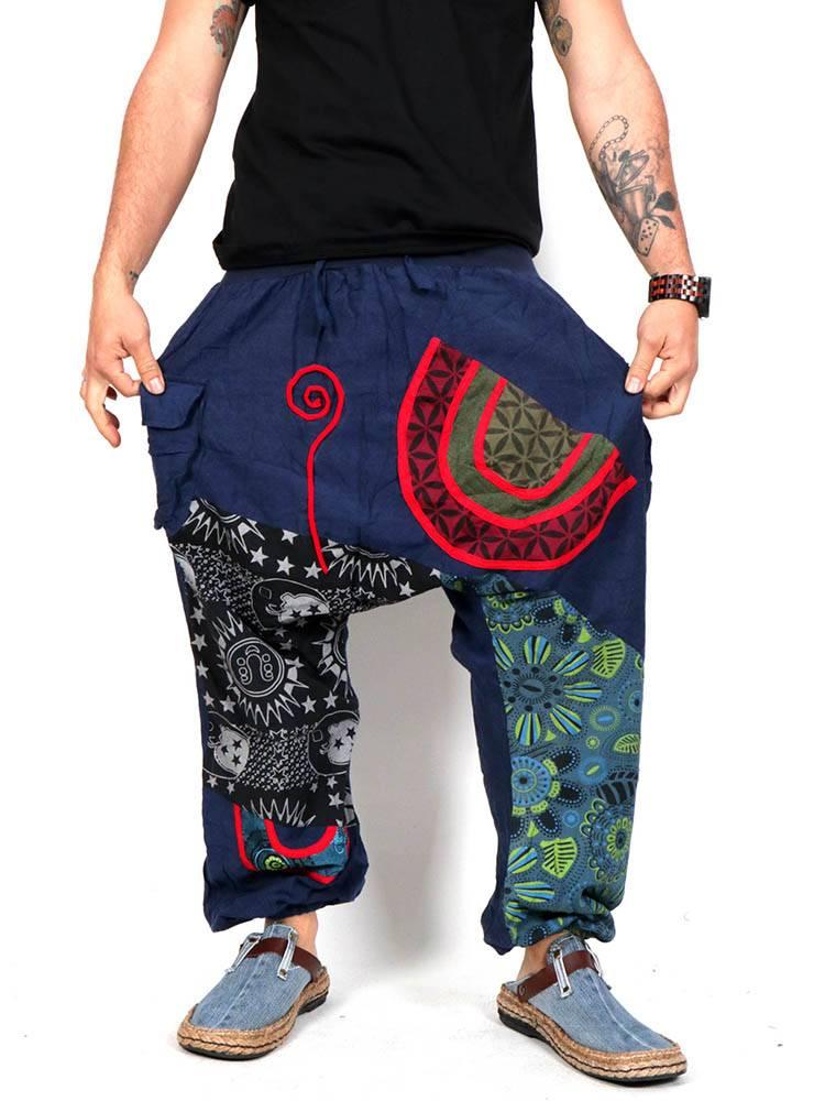 Pantalón hippie Patchwork [PAHC44] para comprar al por Mayor o Detalle en la categoría de Pantalones Hippies y Alternativos