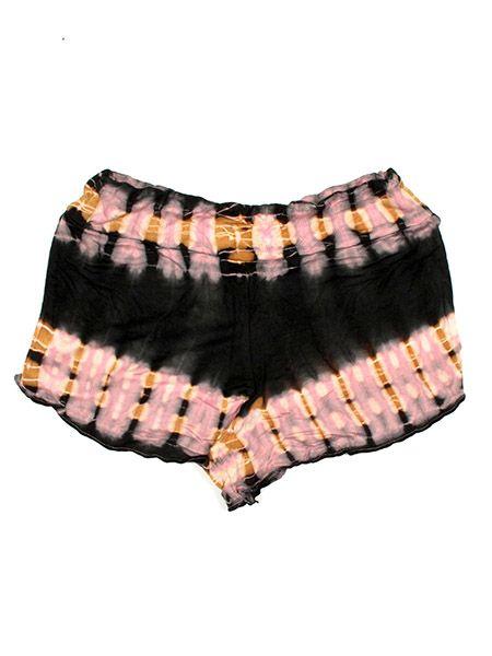 Pantalones Cortos Hippie Ethnic - Pantalón corto hippie PAJO09 - Modelo Negro cr
