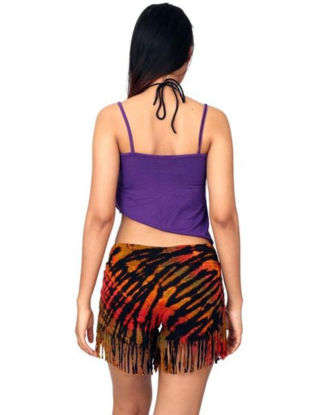 Pantalon corto Tie Dye flecos - Detalle Comprar al mayor o detalle