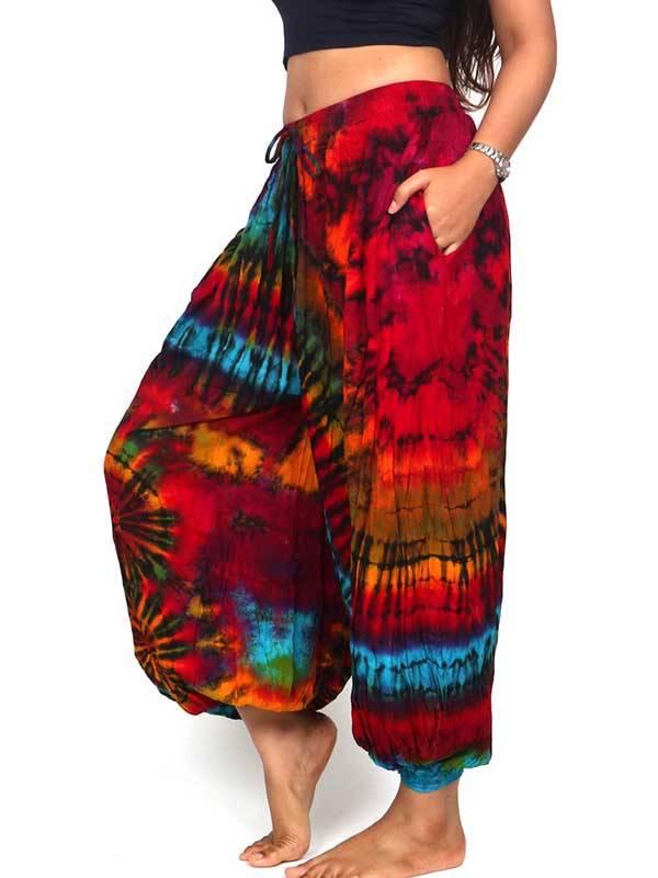 Pantalones Hippie Harem - Pantalon hippie Tie Dye AMPLIO PAJU03 para comprar al por Mayor o Detalle en la categoría de Ropa Hippie Alternativa para Mujer