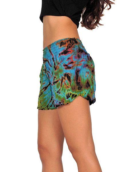Pantalon corto Tie Dye amplio - Detalle Comprar al mayor o detalle
