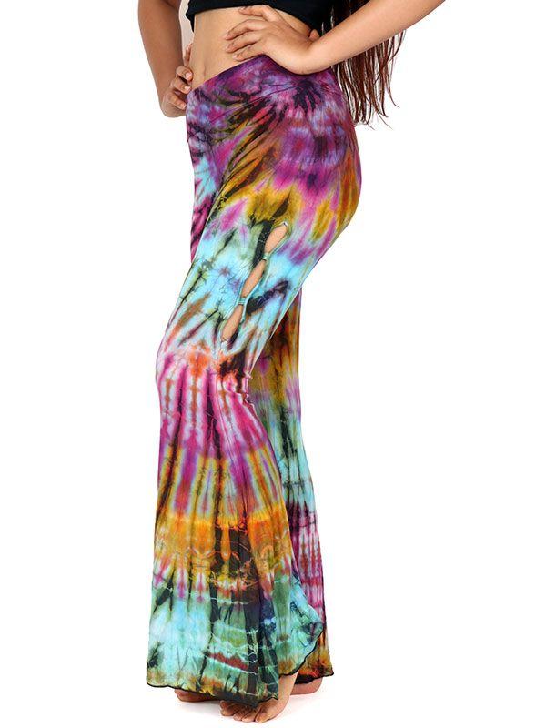 Pantalones Hippies Harem - Pantalon hippie Tie Dye [PAJU08] para comprar al por mayor o detalle  en la categoría de Ropa Hippie Alternativa para Mujer.