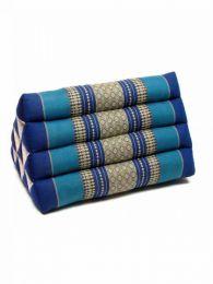 Almohadas y Colchones Kapok Tailandia - Cojín almohada triangular ALMO01 - Modelo Azul