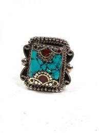 Bisutería Tibetana - Anillo Tibetano Piedras [ANAT03] para comprar al por mayor o detalle  en la categoría de Bisutería Hippie Étnica Alternativa.