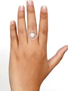 Anello in argento con ragnatela e occhio di shiva per acquistare all'ingrosso o dettaglio nella categoria di gioielli alternativi etnici hippie e argento | Negozio online ZAS [ANOJ04].