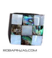Anillos resina y conchas madre Mod M-2