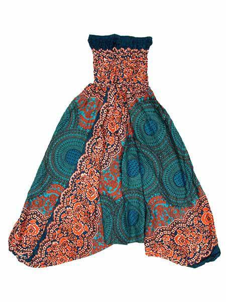 Pantalon árabe rayón mandalas - Azul Comprar al mayor o detalle