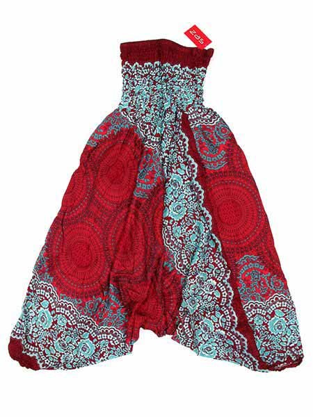 Pantalon árabe rayón mandalas - Rojo Comprar al mayor o detalle