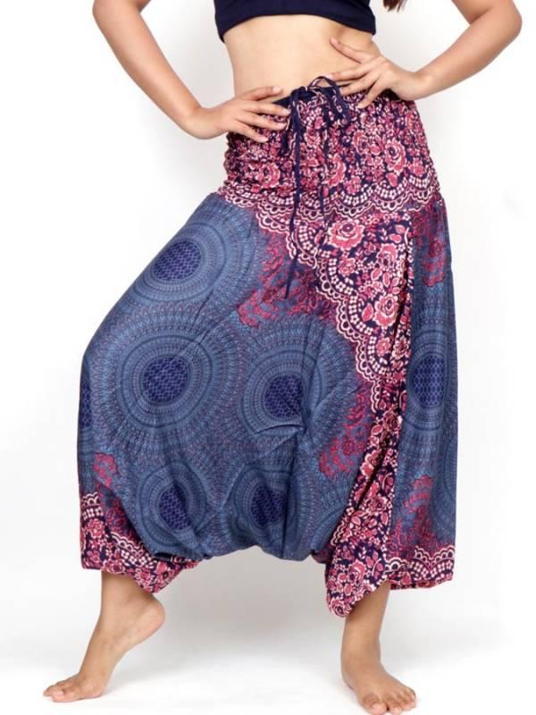 Pantalon árabe rayón mandalas - Detalle Comprar al mayor o detalle