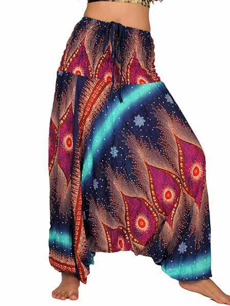 Pantalon árabe rayón estampado psicotrip - Comprar al Mayor o Detalle