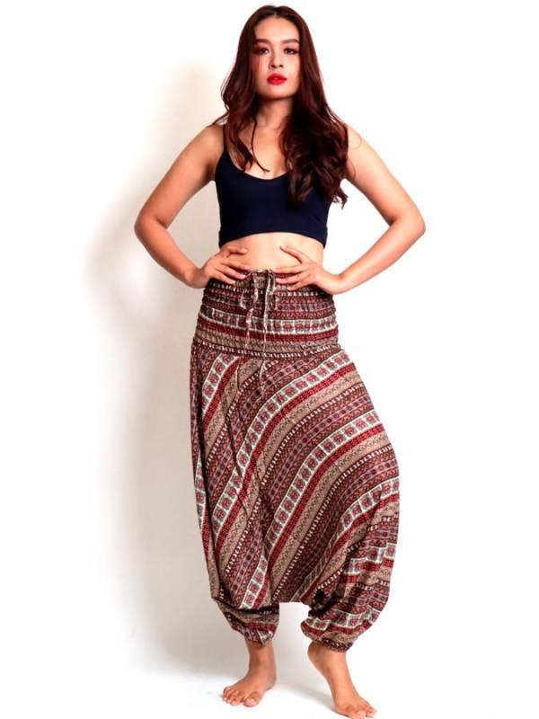 Pantalon árabe rayón estampado etnico - Detalle Comprar al mayor o detalle