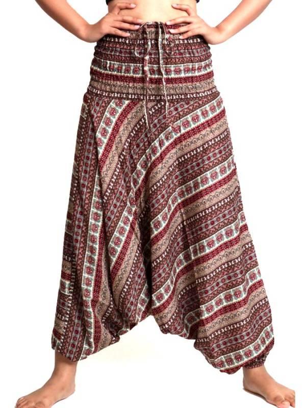 Pantalon árabe rayón estampado etnico PAPA06 para comprar al por mayor o detalle  en la categoría de Ropa Hippie Alternativa para Chicas.