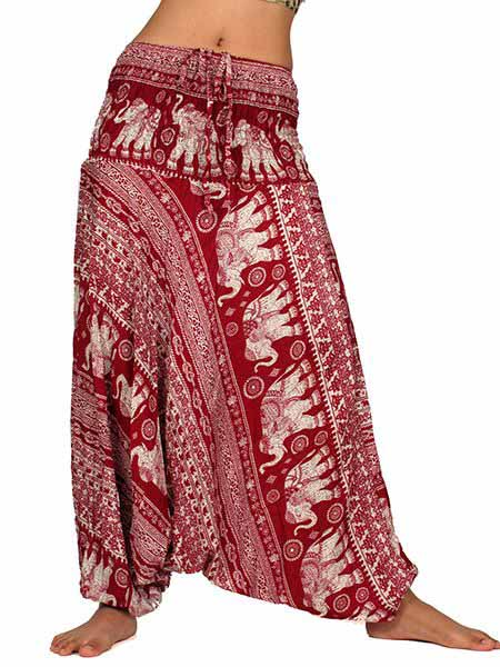 Pantalones Hippies Harem - Pantalón hippie ancho PAPA10.