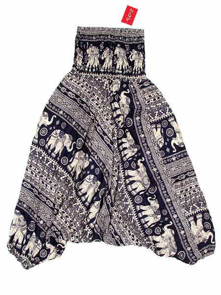Pantalones Hippies Harem - Pantalón hippie ancho PAPA10 - Modelo Azul