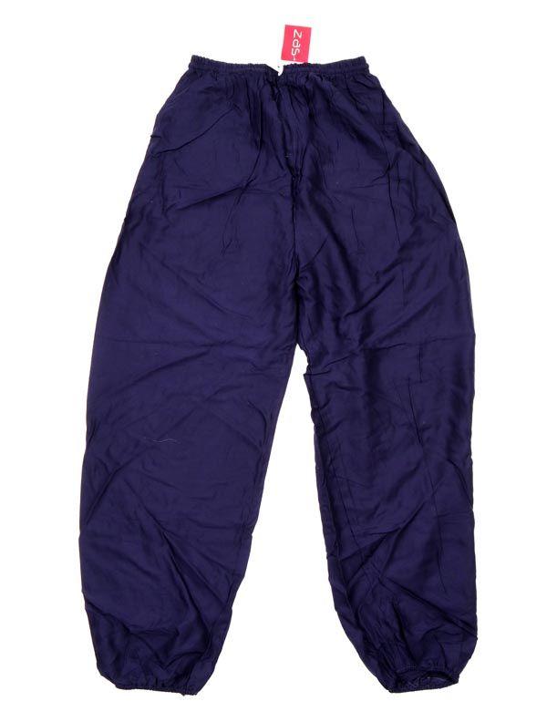 Pantalon unisex amplio rayón liso - Azul m Comprar al mayor o detalle