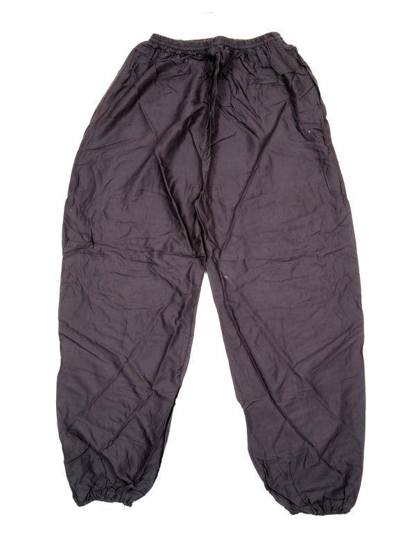 Pantalon unisex amplio rayón liso - Gris Comprar al mayor o detalle