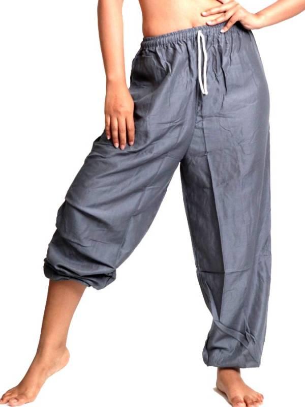 Pantalones Hippies Harem - Pantalon unisex amplio rayón liso [PAPA11] para comprar al por mayor o detalle  en la categoría de Ropa Hippie Alternativa para Mujer.
