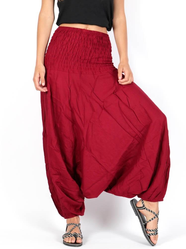 Pantalon Harem rayón liso PAPA12 para comprar al por mayor o detalle  en la categoría de Ropa Hippie Alternativa para Mujer.