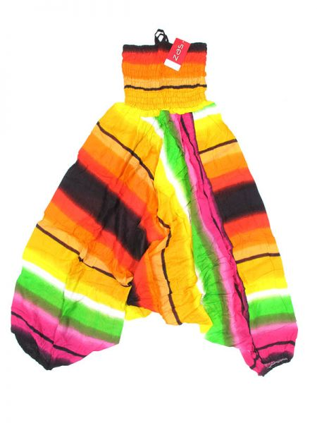 Pantalones Hippies Harem - Pantalón hippie ancho PAPA13 - Modelo Naranja