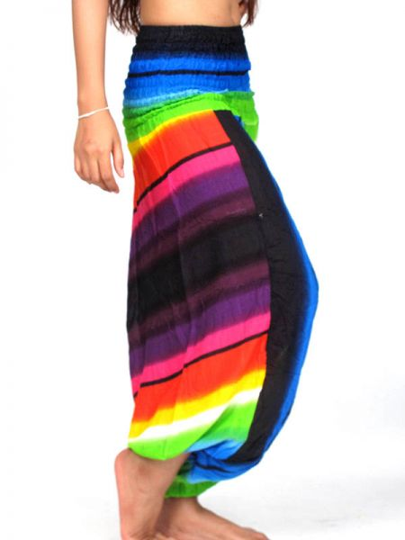 Pantalon Harem rayón Multicolor - Detalle Comprar al mayor o detalle