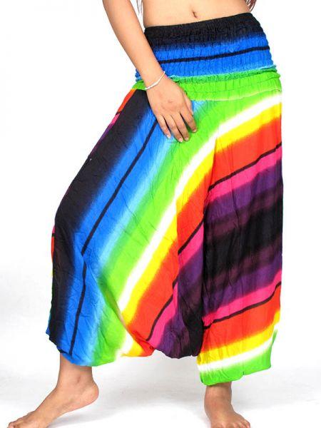 Pantalones Hippies Harem - Pantalon Harem rayón Multicolor [PAPA13] para comprar al por mayor o detalle  en la categoría de Ropa Hippie Alternativa para Mujer.
