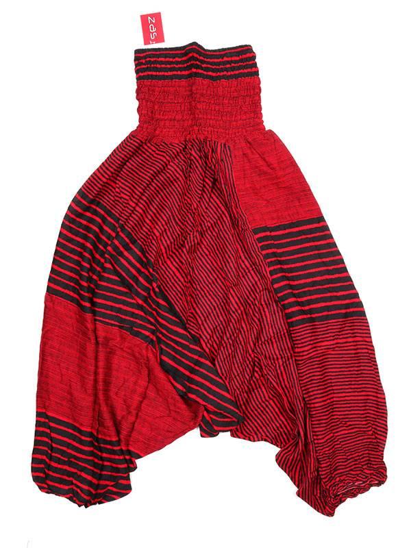 Pantalon árabe rayón rayas - Naranja Comprar al mayor o detalle