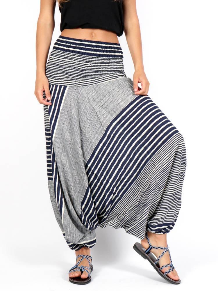 Pantalones Hippies Harem - Pantalon árabe rayón rayas [PAPA14] para comprar al por mayor o detalle  en la categoría de Ropa Hippie Alternativa para Mujer.