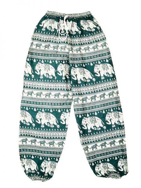 Pantalones Hippies Harem - Pantalón unisex hippie PAPA15 - Modelo Verde