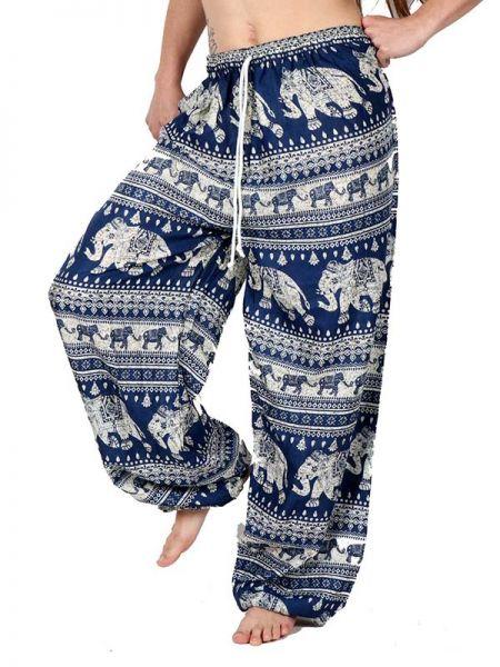 Pantalones Hippies Harem - Pantalon amplio rayón elefantes [PAPA15] para comprar al por mayor o detalle  en la categoría de Ropa Hippie Alternativa para Mujer.