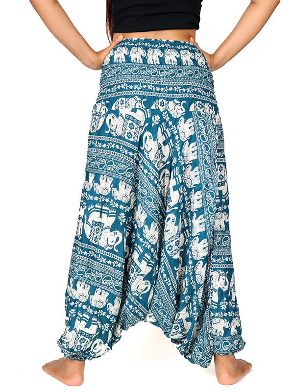 Pantalones Hippies Harem - Pantalón hippie ancho PAPA17.