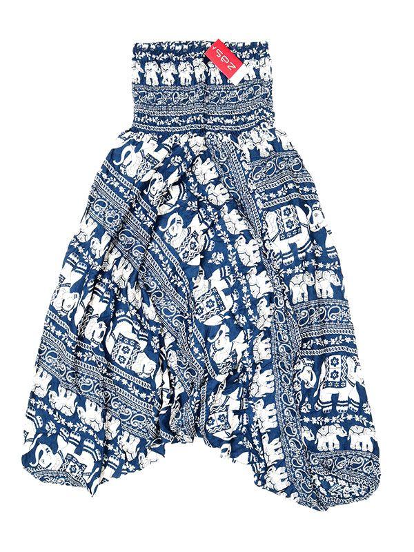 Pantalones Hippies Harem - Pantalón hippie ancho PAPA17 - Modelo Azul