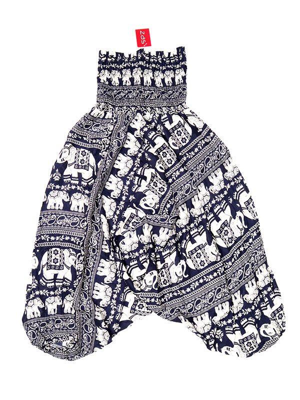 Pantalones Hippies Harem - Pantalón hippie ancho PAPA17 - Modelo Azul os