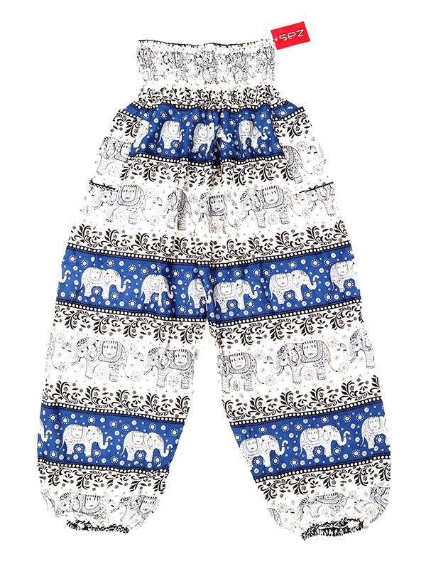 Pantalones Hippies Harem - Pantalón unisex hippie PAPA18 - Modelo Azul cl