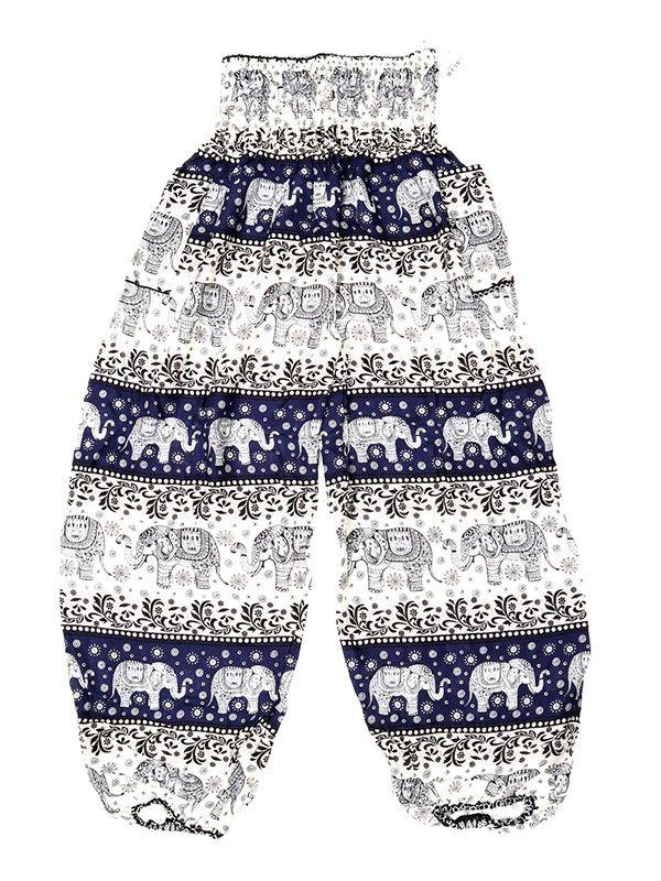 Pantalones Hippies Harem - Pantalón unisex hippie PAPA18 - Modelo Azul os