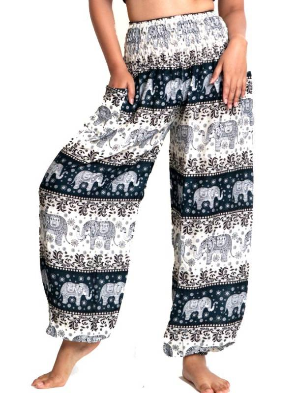 Pantalon amplio rayón mandalas PAPA18 para comprar al por mayor o detalle  en la categoría de Ropa Hippie Alternativa para Mujer.
