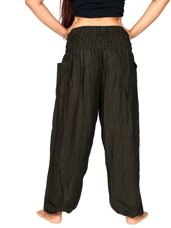 Pantalon amplio rayón liso - Detalle Comprar al mayor o detalle