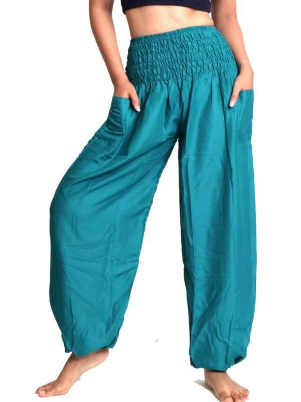 Pantalon amplio rayón liso PAPA19 para comprar al por mayor o detalle  en la categoría de Ropa Hippie Étnica para Chicas.