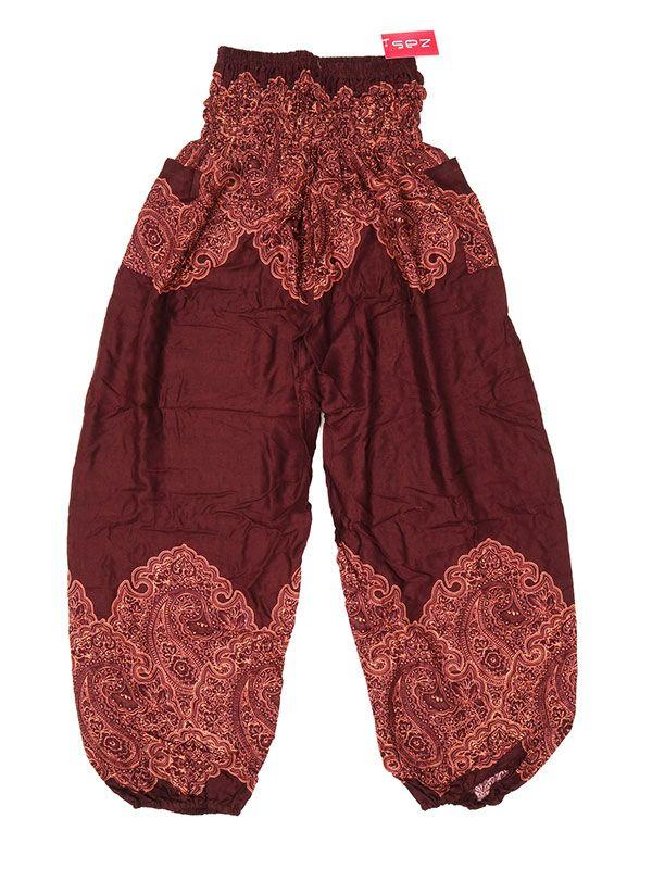 Pantalon amplio estampado étnico - MarrÓn Comprar al mayor o detalle