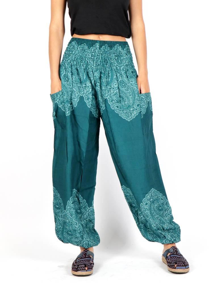 Pantalon amplio estampado étnico PAPA21 para comprar al por mayor o detalle  en la categoría de Ropa Hippie Alternativa para Mujer.
