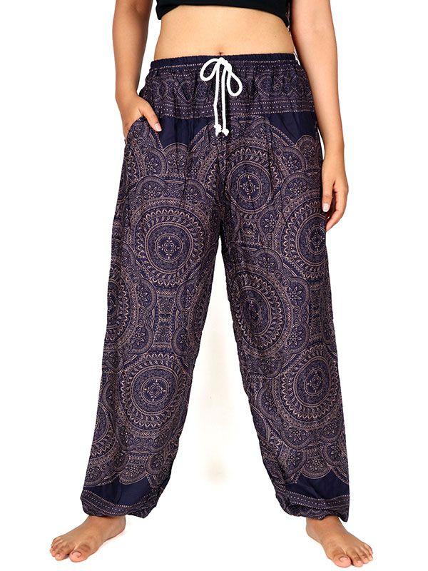 Pantalones Hippies Harem - Pantalon amplio rayón mandalas [PAPA22] para comprar al por mayor o detalle  en la categoría de Ropa Hippie Alternativa para Mujer.