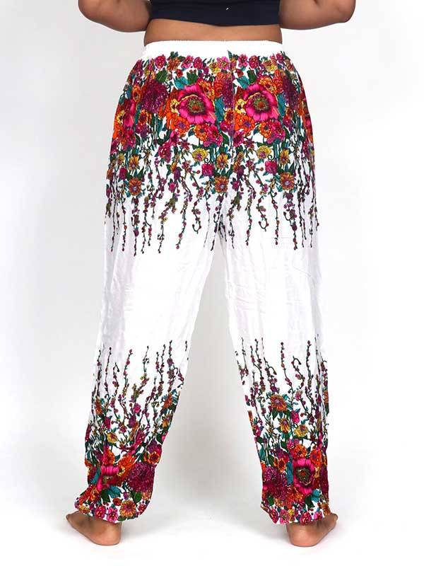 Pantalon amplio rayón estampado - Detalle Comprar al mayor o detalle