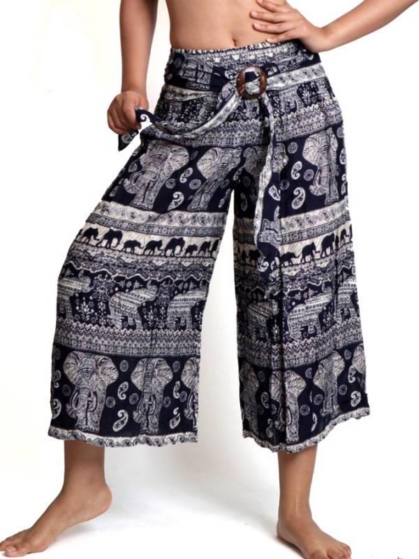 Pantalón Hippie con hebilla de coco [PAPI02] para comprar al por Mayor o Detalle en la categoría de Pantalones Hippies Harem Yoga