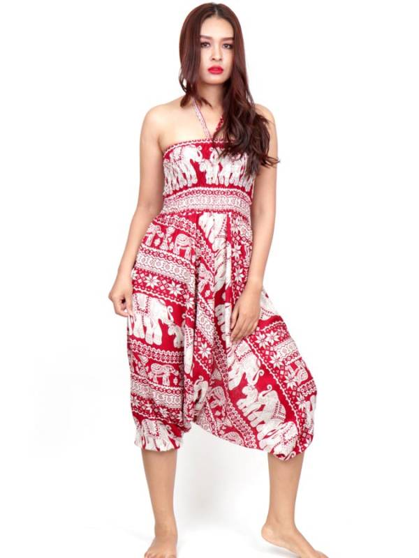 Pantalon árabe rayón elefantes - Detalle Comprar al mayor o detalle