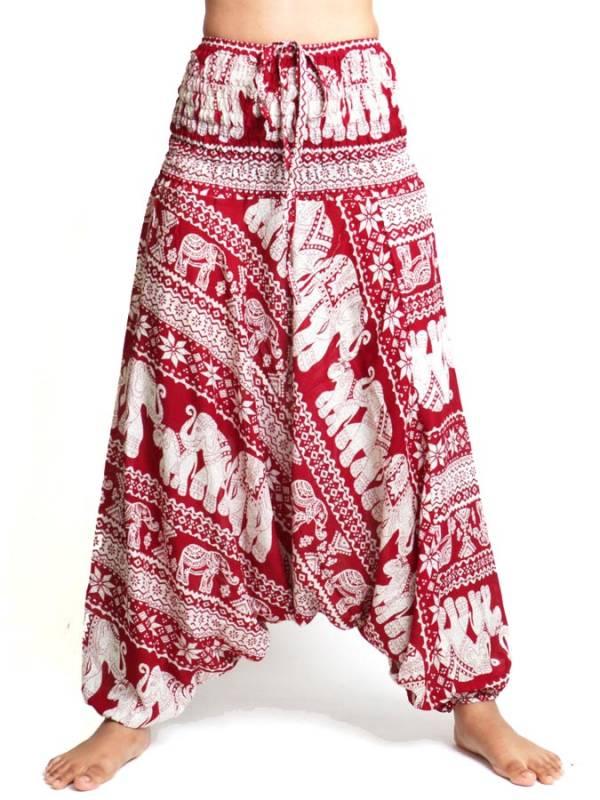 Pantalon árabe rayón elefantes [PAPI05] para comprar al por Mayor o Detalle en la categoría de Pantalones Hippies Harem Yoga