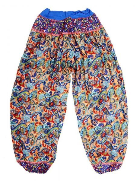Pantalon afgano rayón estampado - Azul Comprar al mayor o detalle